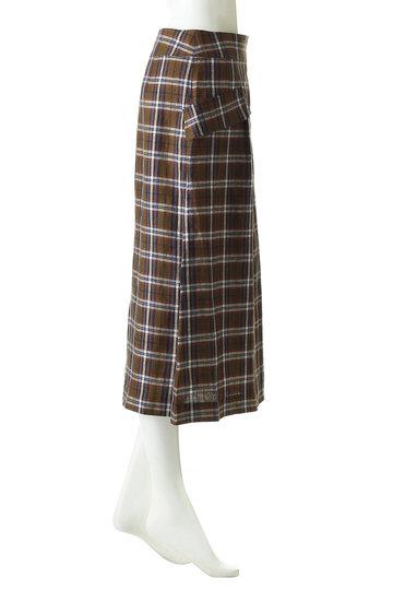 アルアバイル/allurevilleのダークチェックラップスカート(ブラウン/2019101138081020)
