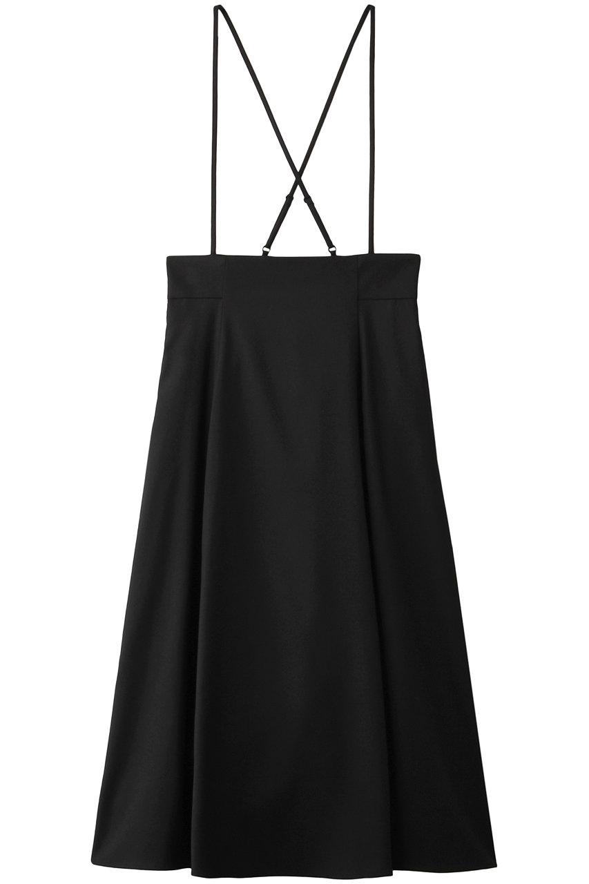 アルアバイル/allurevilleのソフトサキソニーサロペットスカート(ブラック/2019201145095020)