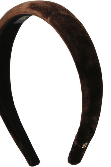 アレクサンドル ドゥ パリ/ALEXANDRE DE PARISのベロアカチューシャ(ブラック/THB-17405-25)