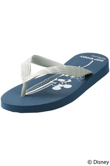 インショア/INSHOREの【UNISEX】【別注】【SURF MICKEY】ビーチサンダル(ホワイト/SM18SS-BS02)