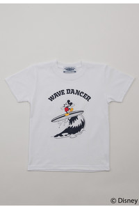 <ELLE SHOP>【【SURF MICKEY】Tシャツ WAVE DANCER