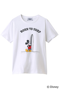 <ELLE SHOP>【【SURF MICKEY】Tシャツ BORN TO SURF