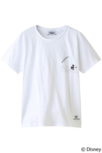 <ELLE SHOP>【【SURF MICKEY】Tシャツ WIPE OUT WHITE