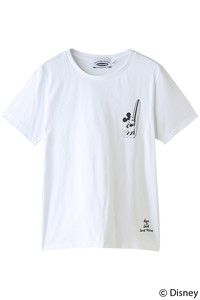 <ELLE SHOP>【【SURF MICKEY】Tシャツ BORN TO SURF WHITE