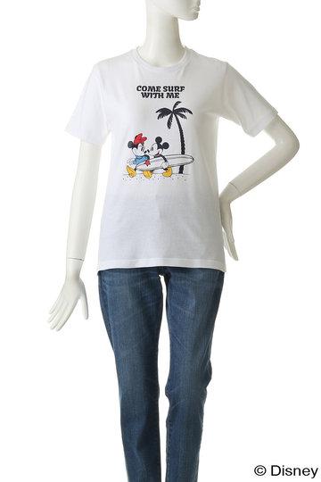インショア/INSHOREの【UNISEX】【SURF MICKEY】Tシャツ(Let's surf/SM19SS-TS02)