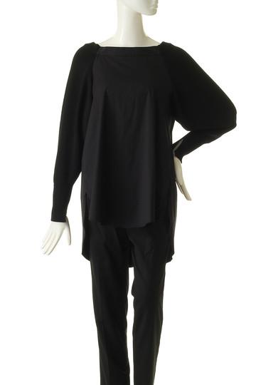 エッセン.ロートレアモン/ESSEN.LAUTREAMONTのシャツドッキングニット(ブラックxホワイト/3112-75504)