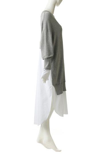 エッセン.ロートレアモン/ESSEN.LAUTREAMONTのシャツドッキングワンピース(ネイビー/3101-81509)