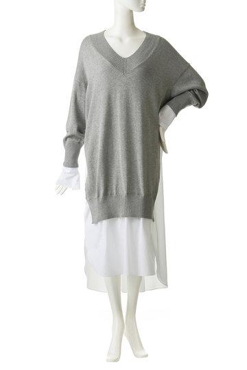 エッセン.ロートレアモン/ESSEN.LAUTREAMONTのシャツドッキングワンピース(グレー/3101-81509)