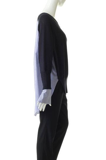 エッセン.ロートレアモン/ESSEN.LAUTREAMONTのシャツドッキングニット(ネイビー/3112-81523)