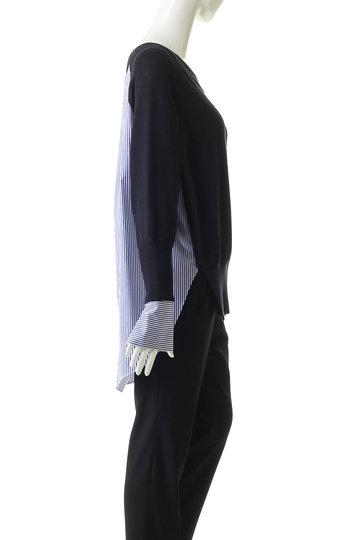エッセン.ロートレアモン/ESSEN.LAUTREAMONTのシャツドッキングニット(ベージュ/3112-81523)