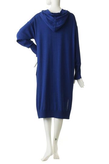 エッセン.ロートレアモン/ESSEN.LAUTREAMONTのフーテッドニットドレス(ブルー/3101-81543)