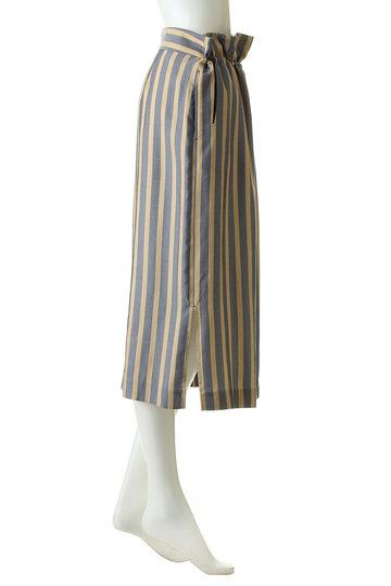 エッセン.ロートレアモン/ESSEN.LAUTREAMONTのドロストストライプタイトスカート(ネイビー/3111-82501)