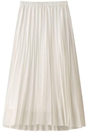 エッセン.ロートレアモン/ESSEN.LAUTREAMONTのオーガンジープリーツスカート(ホワイト/3111-81511)