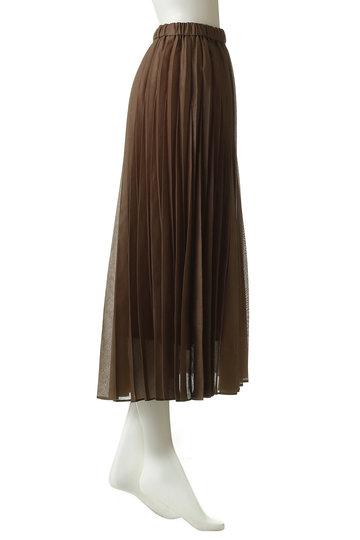 エッセン.ロートレアモン/ESSEN.LAUTREAMONTのオーガンジープリーツスカート(ブラック/3111-81511)