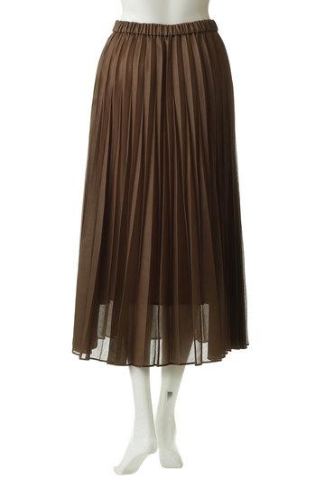 エッセン.ロートレアモン/ESSEN.LAUTREAMONTのオーガンジープリーツスカート(キャメル/3111-81511)