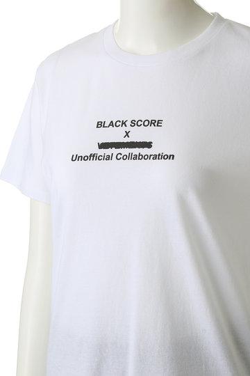 エッセン.ロートレアモン/ESSEN.LAUTREAMONTの【BLACKSCORE】 Tシャツ(ホワイト/3103-81501)