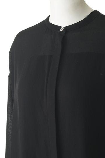 エッセン.ロートレアモン/ESSEN.LAUTREAMONTのボイルシャツワンピース(ブラック/3113-82514)