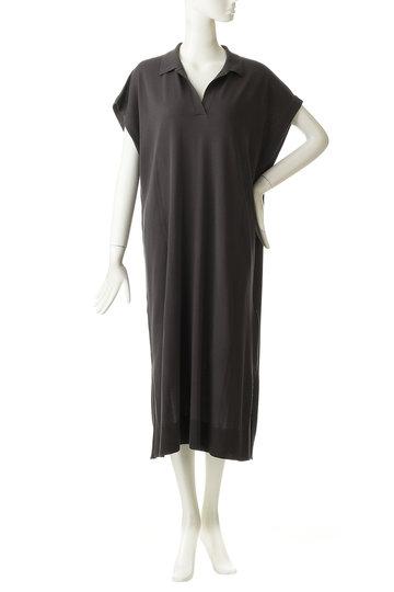 エッセン.ロートレアモン/ESSEN.LAUTREAMONTのシャツライクニットワンピース(チャコール/3101-84513)