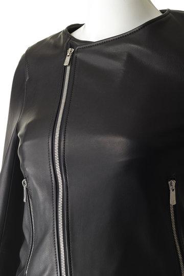 エッセン.ロートレアモン/ESSEN.LAUTREAMONTのノーカラーライダースジャケット(ブラック/3165-85019)