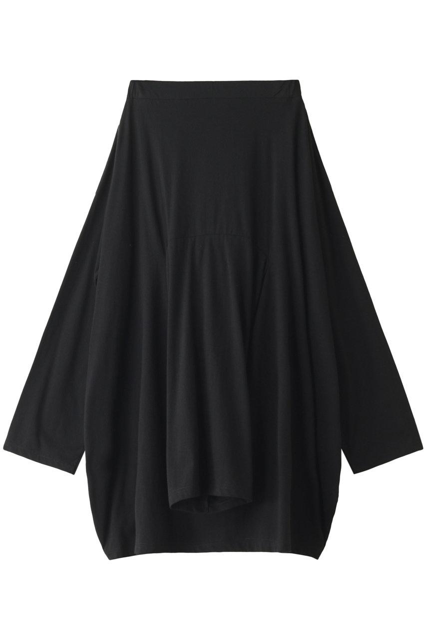 ナゴンスタンス/nagonstansのソフト天竺 Tシャツデザイン スカート(ブラック/470DS981-6680)
