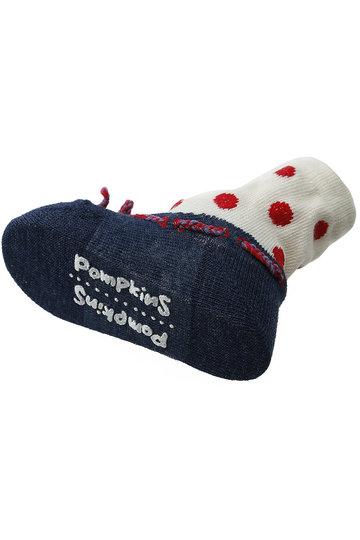 ポプキンズ/POMPKINSの【Baby】【POP UP SOX】ドットバレエ(ネイビー/1312270)