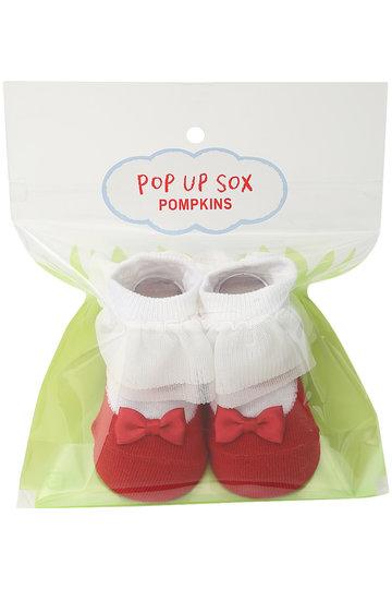 ポプキンズ/POMPKINSの【Baby】【POP UP SOX】チュールフリルバレエソックス(サックス/1312271)