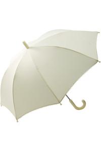 <ELLE SHOP> POMPKINS ポプキンズ 【KIDS】リボン刺繍傘 アイボリ-画像