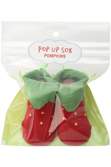 ポプキンズ/POMPKINSの【Baby】【POP UP SOX】いちご(レッド/1322283)
