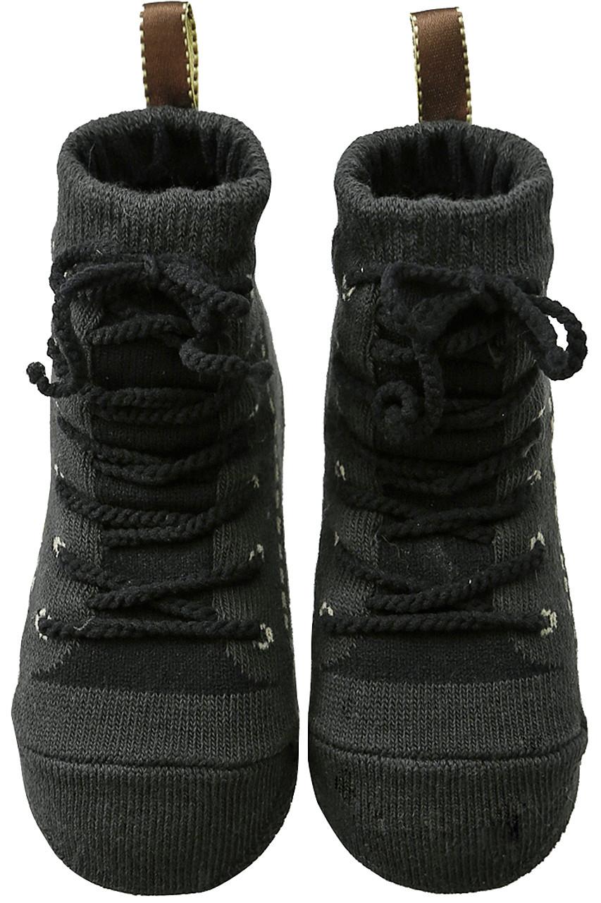 ポプキンズ/POMPKINSの【Baby】【POP UP SOX】ブーツ(ブラック/1822220)