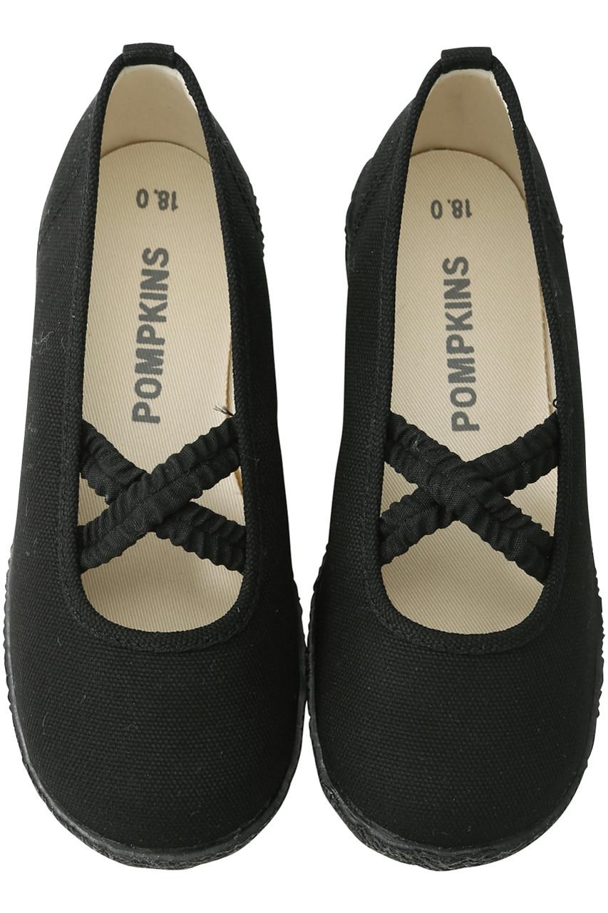 ポプキンズ/POMPKINSの【KIDS】クロスシャーリングシューズ(ブラック/1811062A)