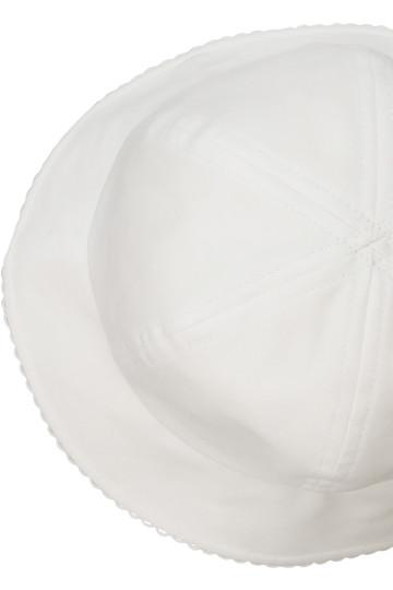 ポプキンズ/POMPKINSの【KIDS】リボン刺繍のハット(オフホワイト/2713027)