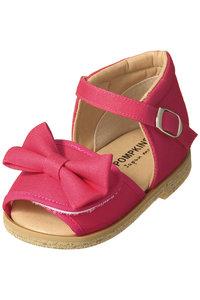 <ELLE SHOP> POMPKINS ポプキンズ 【Baby・KIDS】リボンサンダル ピンク画像