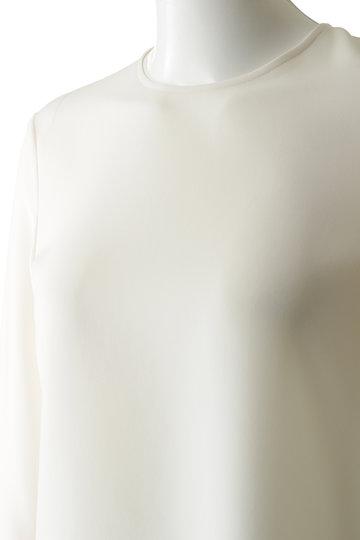 エムフィル/M・filのトリアセテート イージーブラウス(オフホワイト/190-15239)
