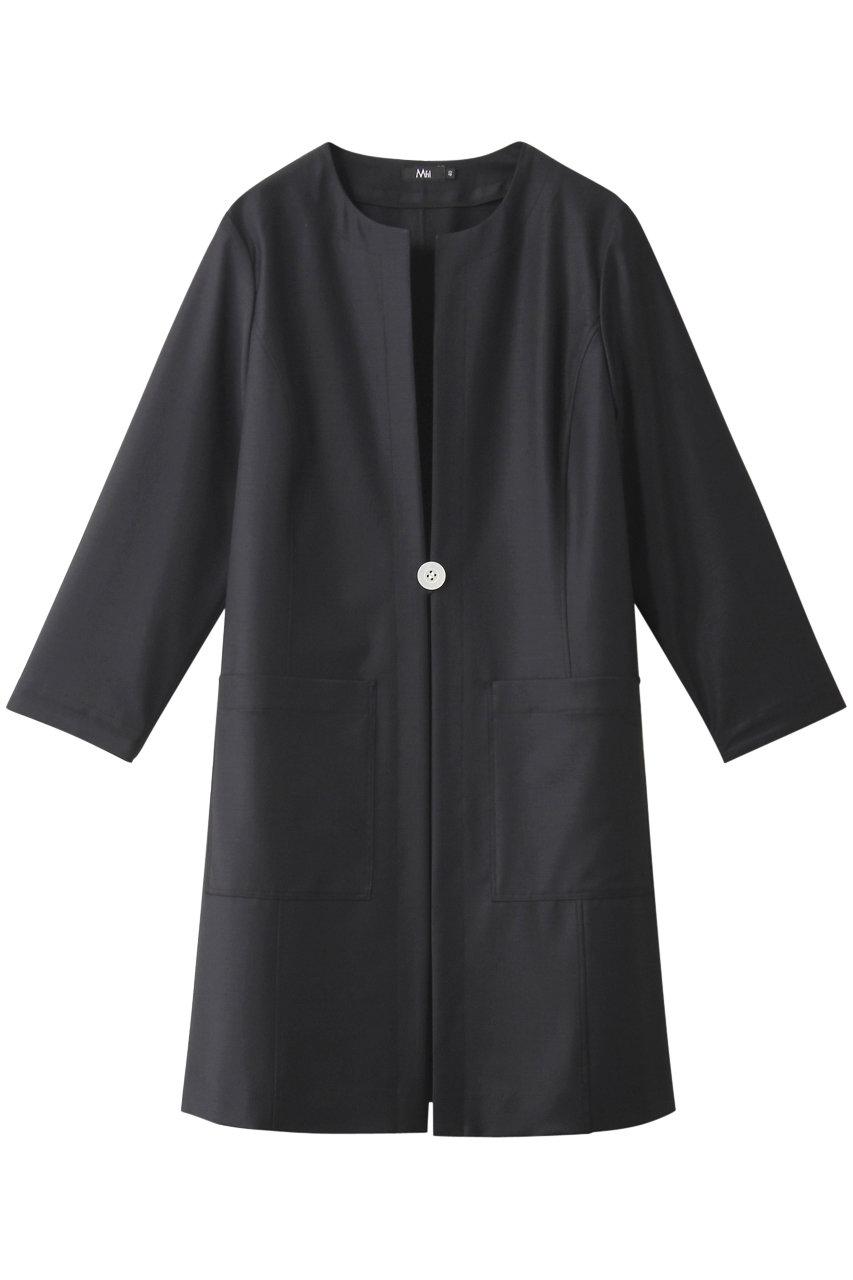 エムフィル/M・filの定番梳毛ジャコート(ネイビーブルー/190-11015)