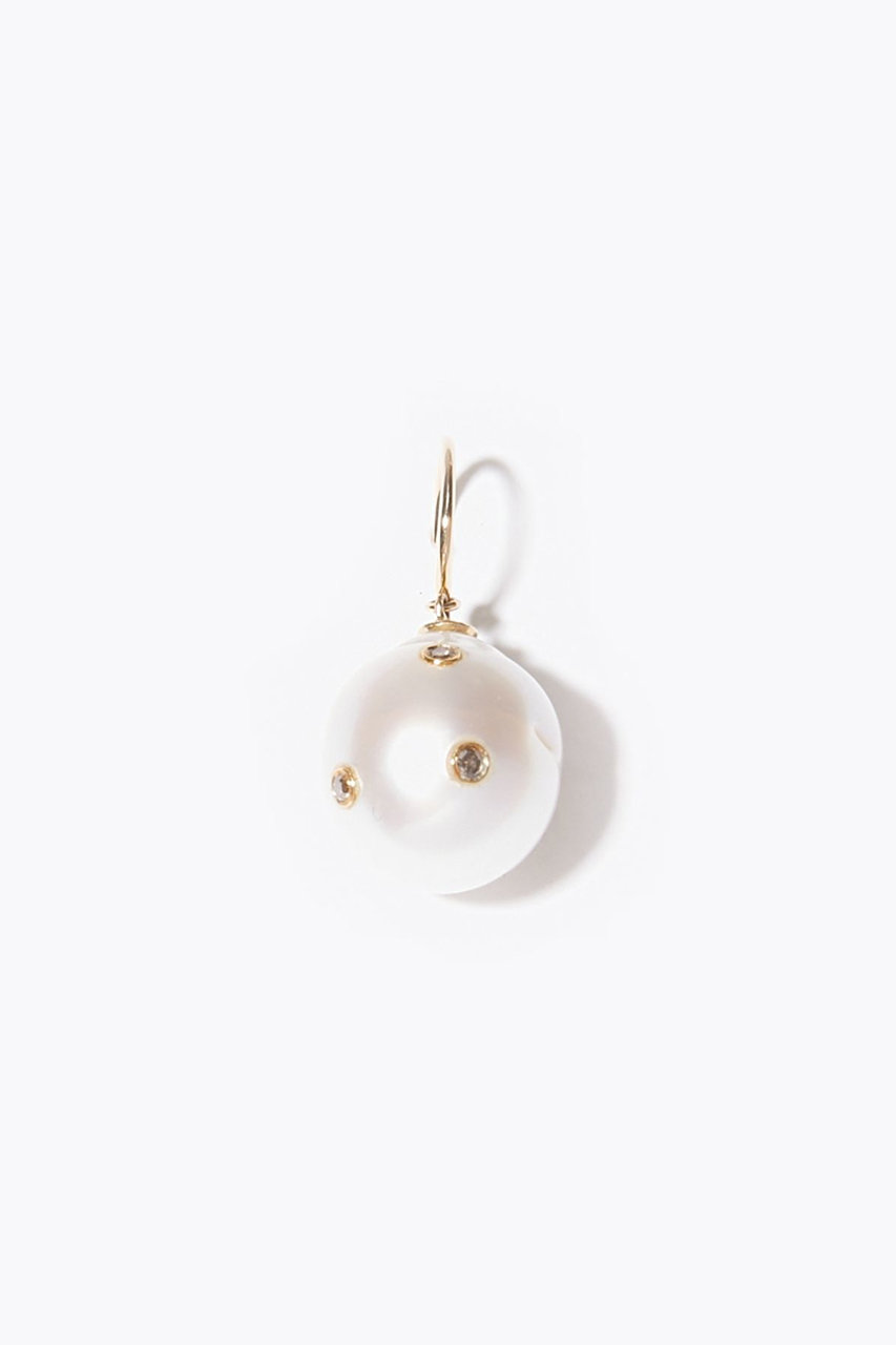 アルティーダ ウード/ARTIDA OUDのpear 南洋パール ダイヤモンド ピアス(ホワイト/1119410101815000)