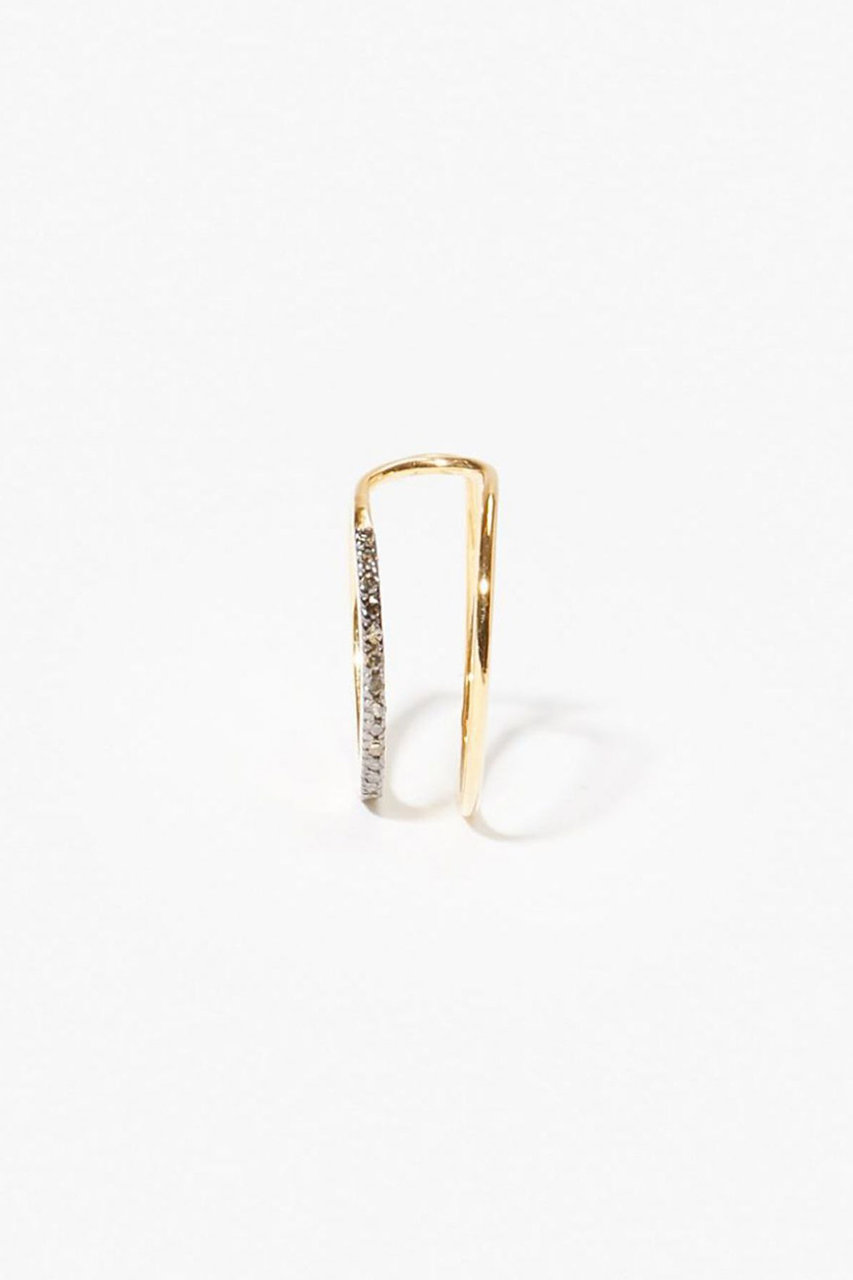 アルティーダ ウード/ARTIDA OUDのgaia パヴェ loop ダブルラインイヤーカフ(片耳用)(グレー/1218410300215000)