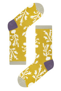 <ELLE SHOP> socks appeal ソックスアピール 【Mogu Takahashi】ソックス leaves yellow