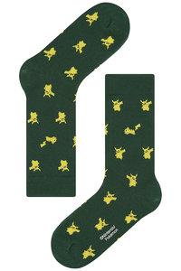 <ELLE SHOP> socks appeal ソックスアピール 【Pocket Monsters socksappeal】【ポケットモンスターソックスアピール】 Pikachu-グリーン