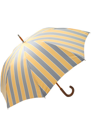 プラデル/Pradelleのストライプ日傘(晴雨兼用)(イエロー×グレー/MO92311PP_A-2)