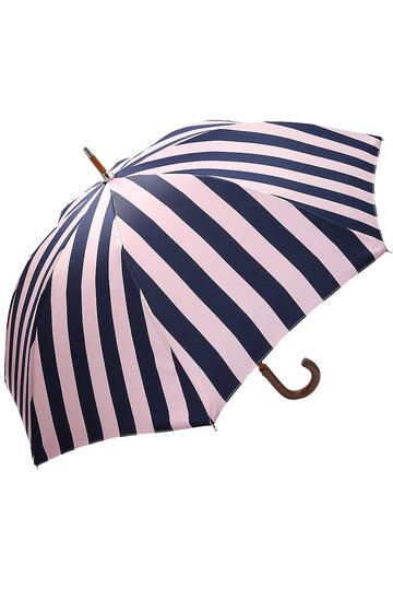 プラデル/Pradelleのストライプ日傘(晴雨兼用)(ピンク×ネイビー/MO92311PP_A-2)