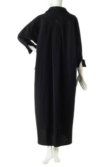 ブルーバード ブルバード/BLUEBIRD BOULEVARDのコットンウールウェザーシャツドレス(Iライン)(ブラック/12RFADRE-03C)
