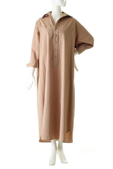 ブルーバード ブルバード/BLUEBIRD BOULEVARDのコットンウールウェザーシャツドレス(Iライン)(モーブ/12RFADRE-03C)