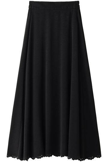 ブルーバード ブルバード/BLUEBIRD BOULEVARDのスカラップヘムマキシスカート(ブラック/12RFABOT-08C)