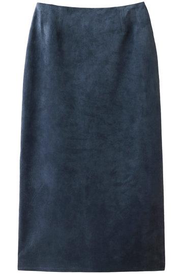 ブルーバード ブルバード/BLUEBIRD BOULEVARDの【予約販売】ピッグスエードタイトスカート(ダークブルー/12RLEBOT-05TO)