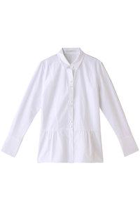 <ELLE SHOP> タイプライターペプラムシャツ ホワイト