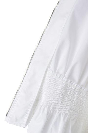 アナイ/ANAYIのタイプライタークルーブルゾン(ホワイト/10191710300-65-380)