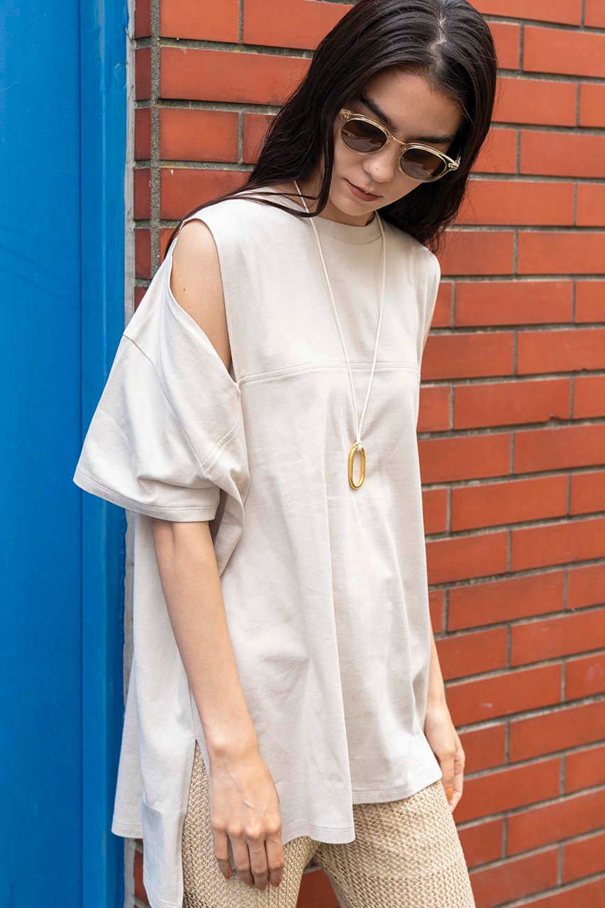メゾンスペシャル/MAISON SPECIALの2WAYスリーブTシャツ(BGE(ベージュ)/21201415115)