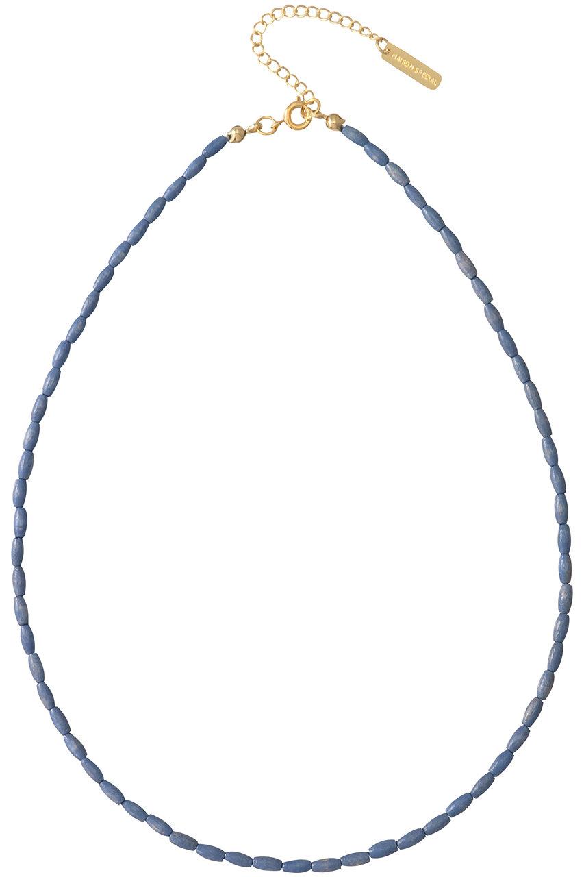 MAISON SPECIAL メゾンスペシャル ウッドストーンミックスチョーカー BLU(ブルー)