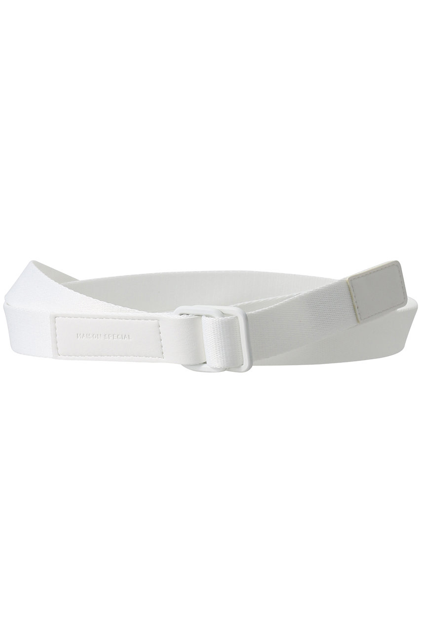 メゾンスペシャル/MAISON SPECIALのテープコンビベルト(WHT(ホワイト)/21211665503)