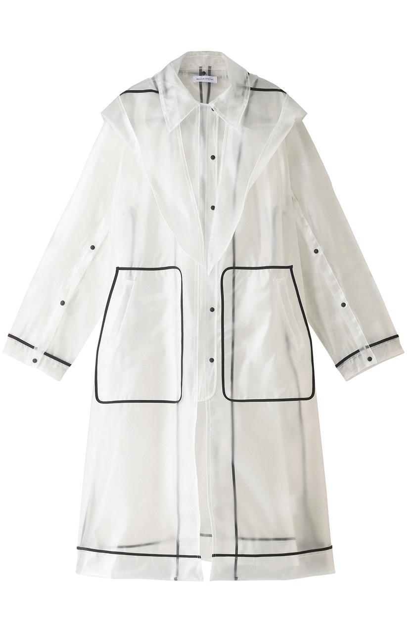 メゾンスペシャル/MAISON SPECIALの2WAY PVC ステンカラーコート(WHT(ホワイト)/21211165401)
